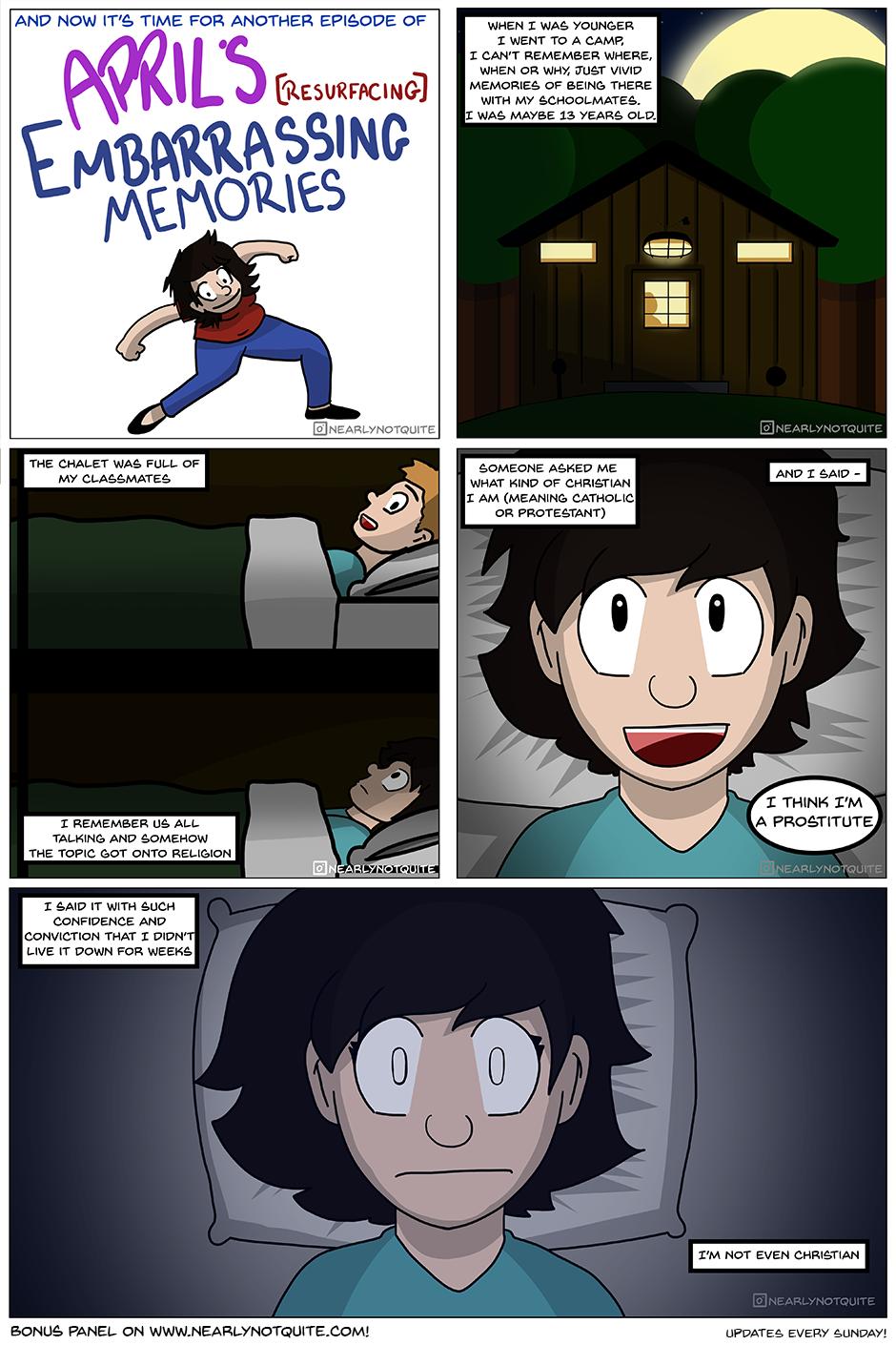 April's Resurfacing Embarrassing Memories #1